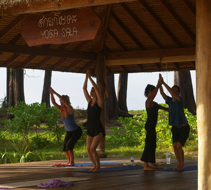 golden buddha beach resort yoga